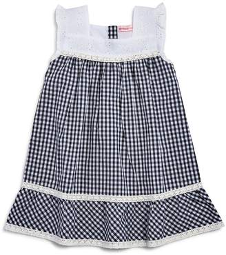 Design History Girls' Gingham Eyelet Dress