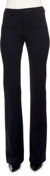 AltuzarraAltuzarra Serge Zip-Front Flare-Leg Pants, Navy