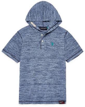 U.S. Polo Assn. USPA Short Sleeve Hooded Tee-Big Kid Boys