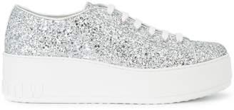 Miu Miu glitter low-top sneakers