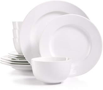 Martha Stewart Collection Whiteware 12-Pc. Dinnerware Set, Service for 4