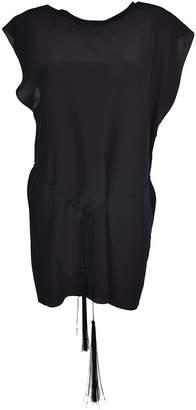Saint Laurent Tie Waist Mini Dress