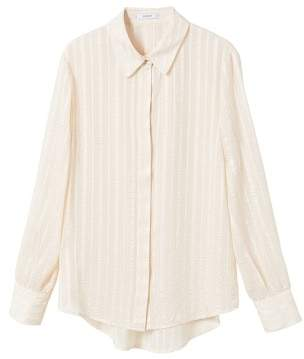 MANGO Satin striped shirt