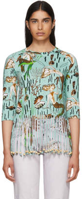 Loewe Blue Paulas Ibiza Edition Mermaid Fringe T-Shirt
