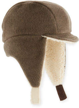Grevi Kids' Faux-Shearling Flap Trapper Hat