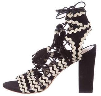 Loeffler Randall Tassel Lace-Up Sandals