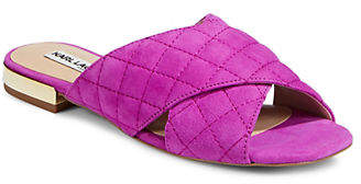 Karl Lagerfeld PARIS Rae Quilted Leather Sandals