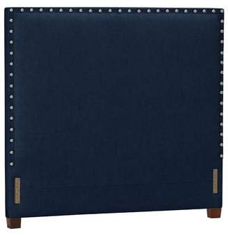 Pottery Barn Teen Raleigh Teen Square Nailhead Headboard, Twin, Denim