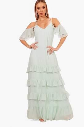 boohoo Boutique Ruffle Hem Maxi Dress
