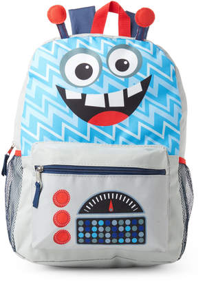 Confetti Kids Boys) Grey Robot Backpack