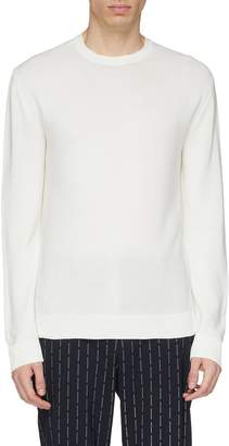 Wooyoungmi Ribbed panel silk-cotton sweater