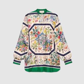 Gucci (グッチ) - フローラル プリント シルク シャツ