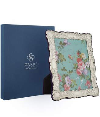"""Carrs of Sheffield Silver Velvet Trimmed Sterling Silver Picture Frame (8""""x6"""")"""