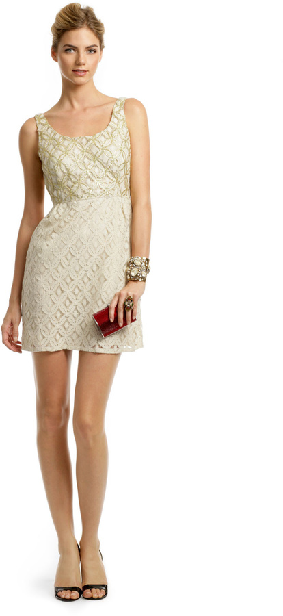 Anna Sui Creme Brulee Scoop Dress