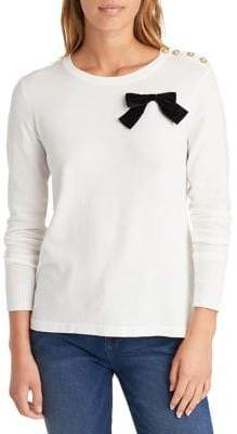 Karl Lagerfeld Paris Long-Sleeve Bow Sweater