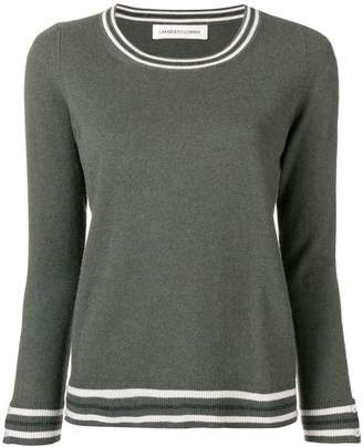 Lamberto Losani contrast-trim fitted sweater