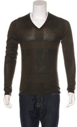 Burberry Nova Check Cashmere & Silk Sweater