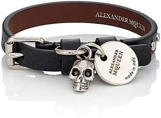 Alexander McQueen Men's Pioneer Wrap Bracelet - Black