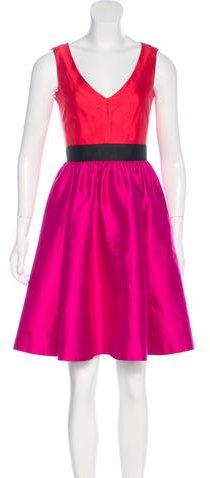 Kate Spade Kate Spade New York Colorblock A-Line Dress