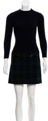 Claudie Pierlot Plaid Mini Dress