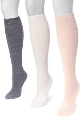 Muk Luks Women's 3-pk. Fuzzy Knee High Socks