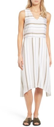 Women's Nordstrom Collection Stripe Stretch Silk Dress $279 thestylecure.com