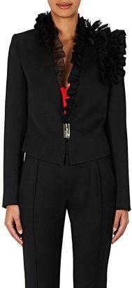 Lanvin Women's Ruffle Wool Twill Jacket