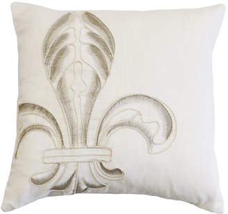 Hiend Accents Embroidery Fleur De Lis 18x18 Pillow