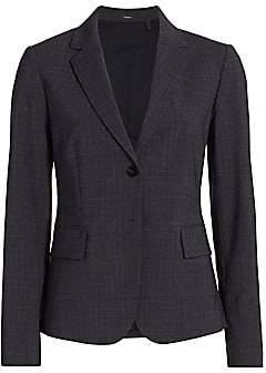 Theory Women's Carissa Houndstooth Wool-Blend Blazer