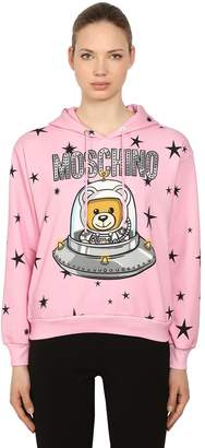 Moschino Logo Printed Cotton Sweatshirt Hoodie