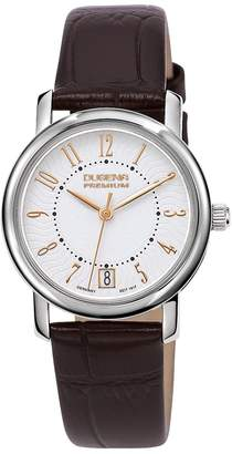 Dugena Premium Women's Quartz Watch Rondo Petit Arabica 7000130 with Leather Strap