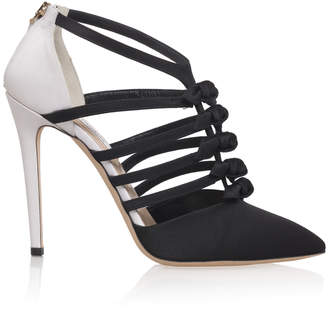 Olgana Paris Multi Strap Bow Heels
