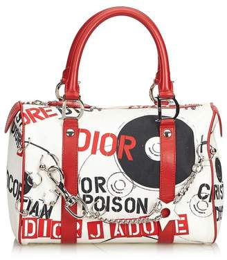 Christian Dior Vintage Canvas Hardcore Boston Bag