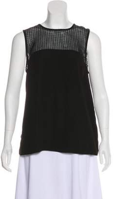 L'Agence Lace-Accented Sleeveless Top