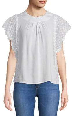Lumie Classic Lace-Sleeve Top