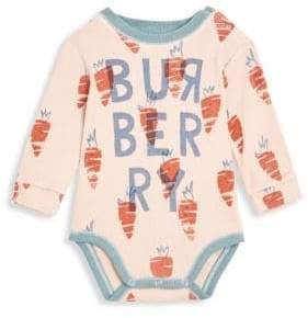 Burberry Baby Girl's Logo Carrot Cotton Bodysuit
