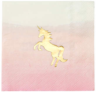 Talking Tables We Heart Unicorns Cocktail Napkins, Pack of 16