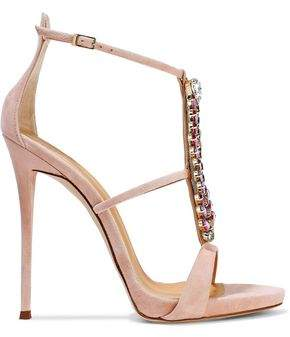 c6a64a4c2d142 Giuseppe Zanotti Coline Crystal-embellished Suede Sandals