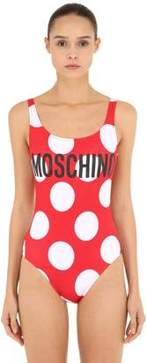 Moschino POLKA DOTS LOGO ONE PIECE SWIMSUIT
