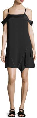 Neiman Marcus Jason Wu Grey Satin-Backed Crepe Cold-Shoulder Dress