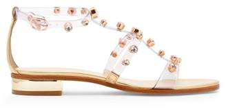 Sophia Webster Dina Crystal Studded Sandals - Womens - Gold