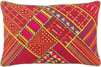 Jaipur Veeraa Breakfast Cushion Cover, Red Greenbo 2