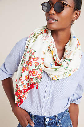 Anthropologie Farm Rio for Flora Tasseled Scarf