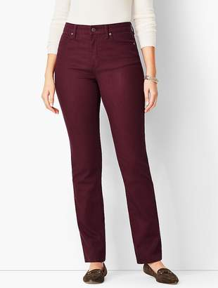 Talbots High-Rise Straight-Leg Jean - Curvy Fit/Merlot