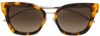 HUGO BOSS tortoiseshell-effect square sunglasses