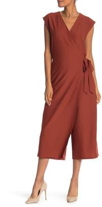 Eileen Fisher Wrap Crop Wide Leg Jumpsuit