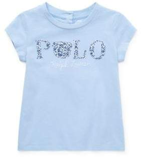 Ralph Lauren Childrenswear Baby Girl's Floral Polo Cotton Jersey Tee