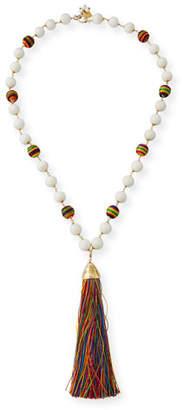 Rosantica Arlecchino Rainbow Tassel Y-Drop Necklace