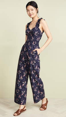 Rebecca Taylor Ivie Floral Jumpsuit