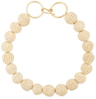 Carolina Herrera raffia beads necklace